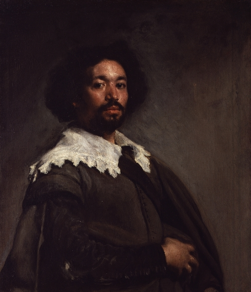 Man with Lace Collar