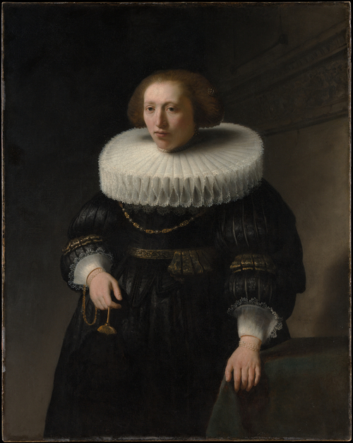 Portrait of Woman with Large Collar