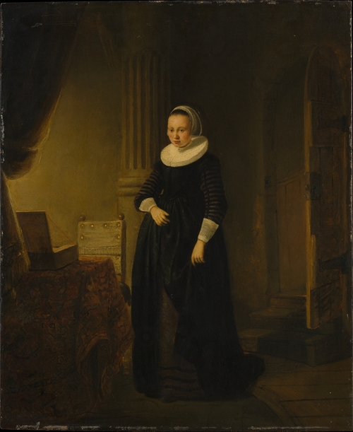 Young Woman Wearing a Collar